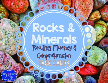 Rocks and Minerals Task Cards for Fluency and Comprehension