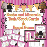 Rocks and Minerals Task / Scoot Cards & Game board