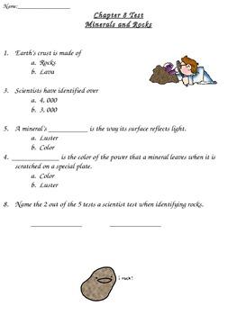 Rocks and Minerals Test