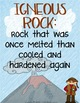 Rocks and Minerals Assessment {Anchor Charts for Vocabular