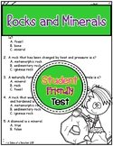 Rocks and Minerals Test