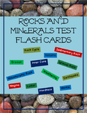 Rocks and Minerals Test Flash Cards