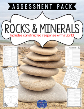Rocks and Minerals Test with Constructed Response Assessment
