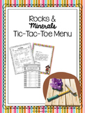 Rocks and Minerals Choice Board