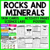 Rocks and Minerals Science Unit - Reading Passages, Labs, and Task Cards!