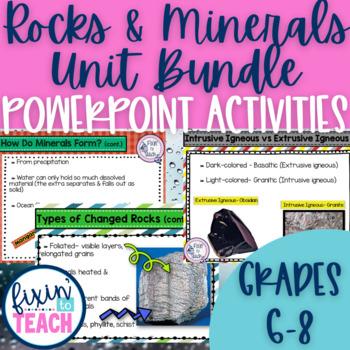 Rocks and Minerals Unit Bundle {Editable}