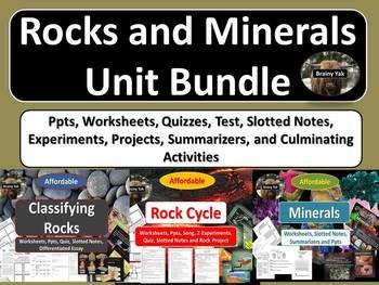 Rocks and Minerals Unit Bundle