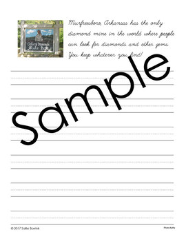 Rocks and Minerals Unit - Copywork - Cursive - Handwriting