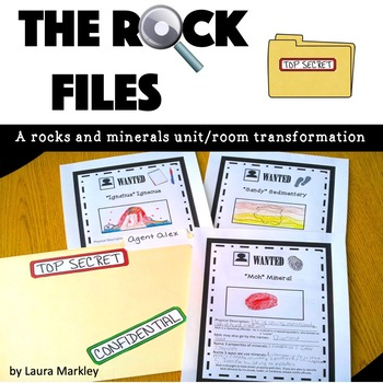 """Rocks and Minerals Unit: """"The Rock Files"""""""