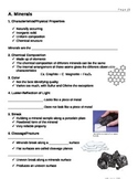 Rocks and Minerals Unit notes