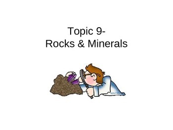 Rocks and Minerals Unit notes ppt