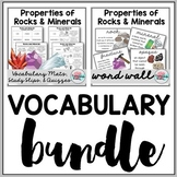 Rocks and Minerals Vocabulary Bundle