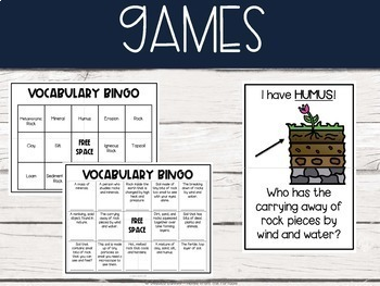 Rocks and Minerals Bundle (Lab, Close Read, and Vocabulary Games)