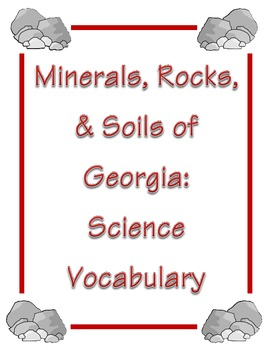 Rocks and Minerals Vocabulary with Crossword Puzzle and Word Search