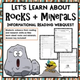 Rocks and Minerals Webquest Reading Research Lesson Worksheets