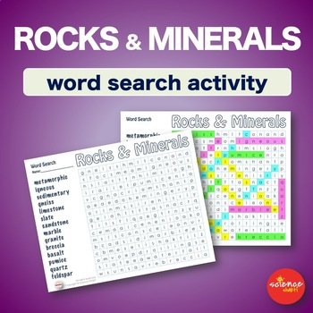Rocks and Minerals * WordSearch * Vocabulary * Warm Up * Bell Ringer
