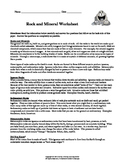 Rocks and Minerals Worksheet