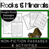 Rocks and Minerals 3rd Grade Worksheets and Reading Passages