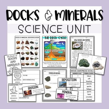 Preschool rocks and minerals venn diagram comparison of rocks and mineral identification chart teaching resources teachers pay teachers sedimentary rock diagram rock cycle rocks and ccuart Gallery