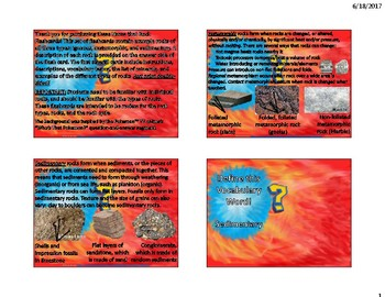 Rocks and Rock Types Flash Cards