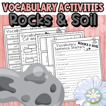 Rocks and Soil Vocabulary Activities