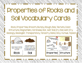 Rocks and Soil Vocabulary Cards