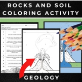 Rocks and Soil Worksheets: Coloring Activity