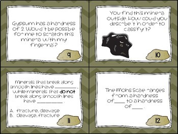Rocks and The Rock Cycle Task Cards
