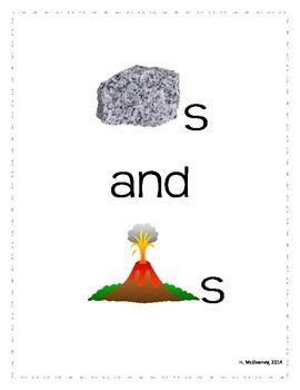 Rocks and Volcanoes - Emergent Reader