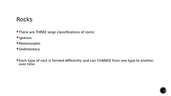Rocks and the Rock Cycle