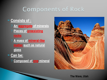 Rocks and the Rock Cycle Power Point Presentation