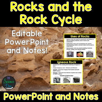Rocks and the Rock Cycle - PowerPoint and Notes