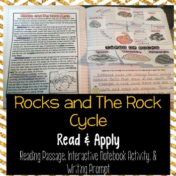 Rocks and the Rock Cycle Reading Comprehension Interactive Notebook