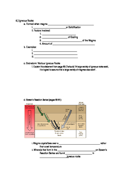 Rocks and the Rock Cycle: Student Guided Notes