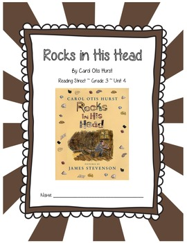 Rocks in His Head CCSS Comprehension Booklet Reading Street, Grade 3, Unit 4