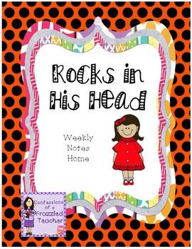 Rocks in His Head Weekly Letters (Scott Foresman Reading Street)