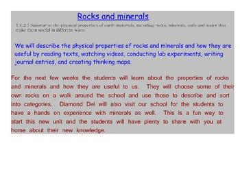Rocks & minerals NC-CCS