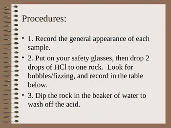 Rocks that Fizz Lab Lesson 13