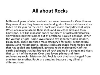 Rocks....24 pages on rocks