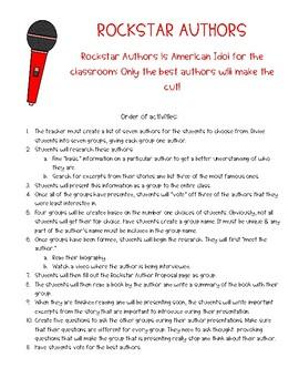 Author Study - Rockstar Authors