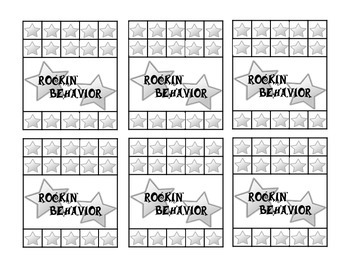 Rockstar Behavior Punch Card