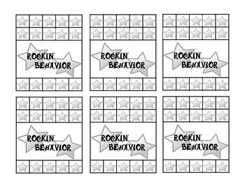 Rockstar Behavior Punch Card