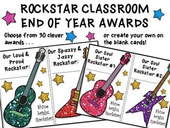Rockstar Classroom End Of Year Awards