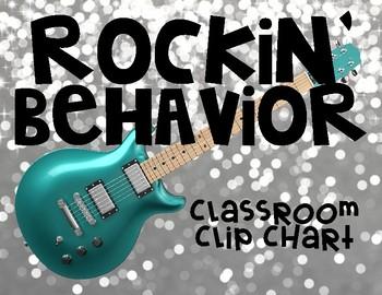 Rockstar Classroom Theme Behavior Clip Chart