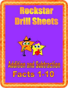 Rockstar Drill Sheets~Addition & Subtraction