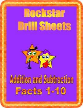 Rockstar Drill Sheets~Addition & Subtraction