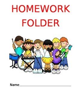 Rockstar Homework Folder Cover