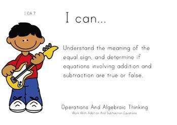Rockstar Kids Theme 1st grade math Common Core Posters first Grade Standards