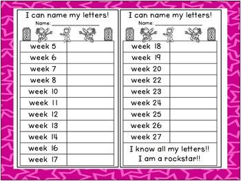 Rockstar Letter Fluency