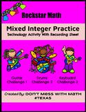 TEK 6.3D Rockstar Math (Technology Activity) - Mixed Integer Practice